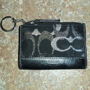 Coach Keyring Coin Card Wallet in Logo Fabric